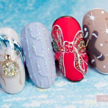 Galeria_Centrum Szkoleniowe AnNails_mix media nail art_mix zdobien_swiateczne_christmas nails_zdobienia_wzorki_kurs_opolskie