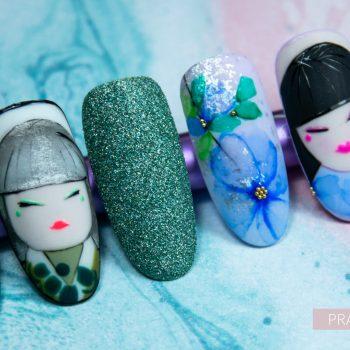 Galeria_Centrum Szkoleniowe AnNails_mix media nail art_mix zdobien_zdobienia_wzorki_kurs_opolskie_ombre_ornamenty_efekty_lucky dolls